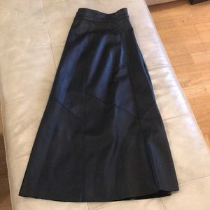 Zara style A line faux leather skirt size 12